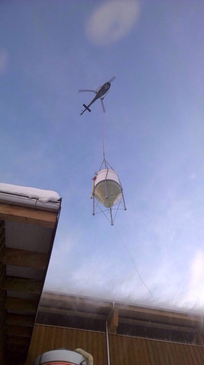 Delivery with a chopper